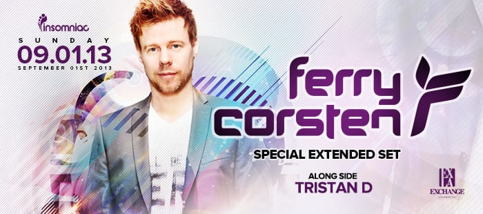 WIN TICKETS TO FERRY CORSTEN AT EXCHANGE LA!