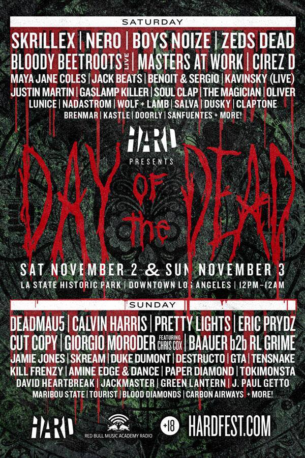 HARD Announces DAY OF THE DEAD LINEUP
