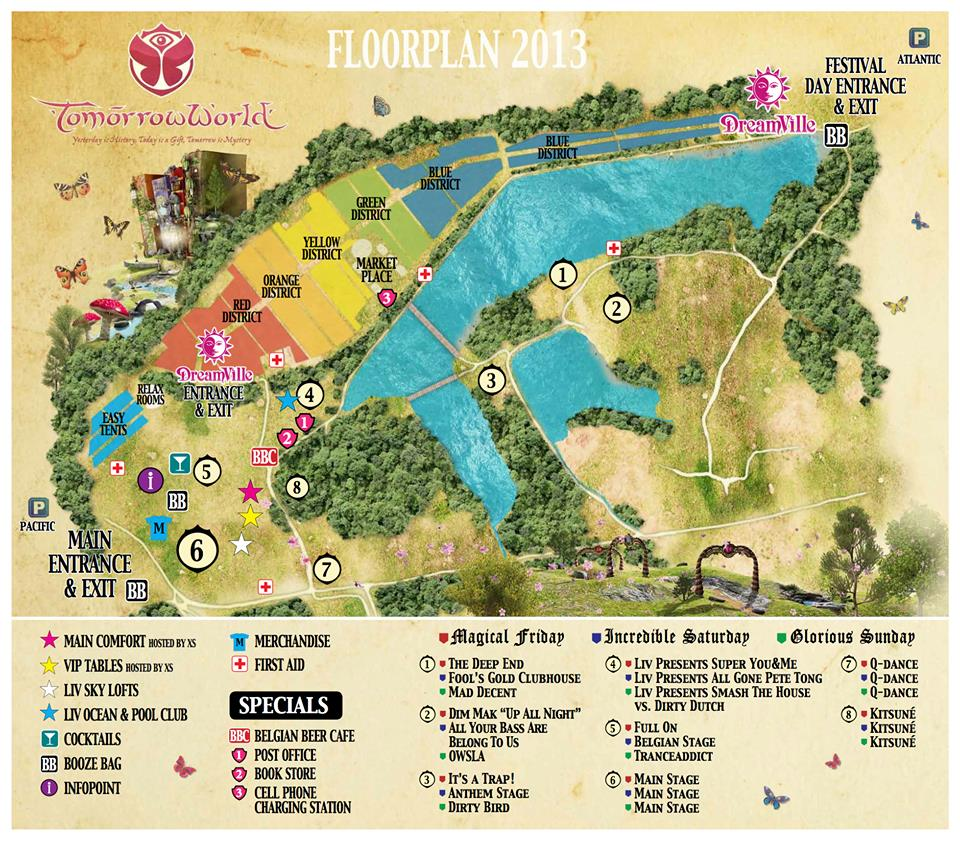 TomorrowWorld Map Released