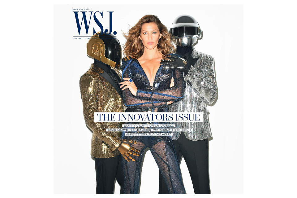 Gisele Bündchen and Daft Punk Cover WSJ Magazine November Issue