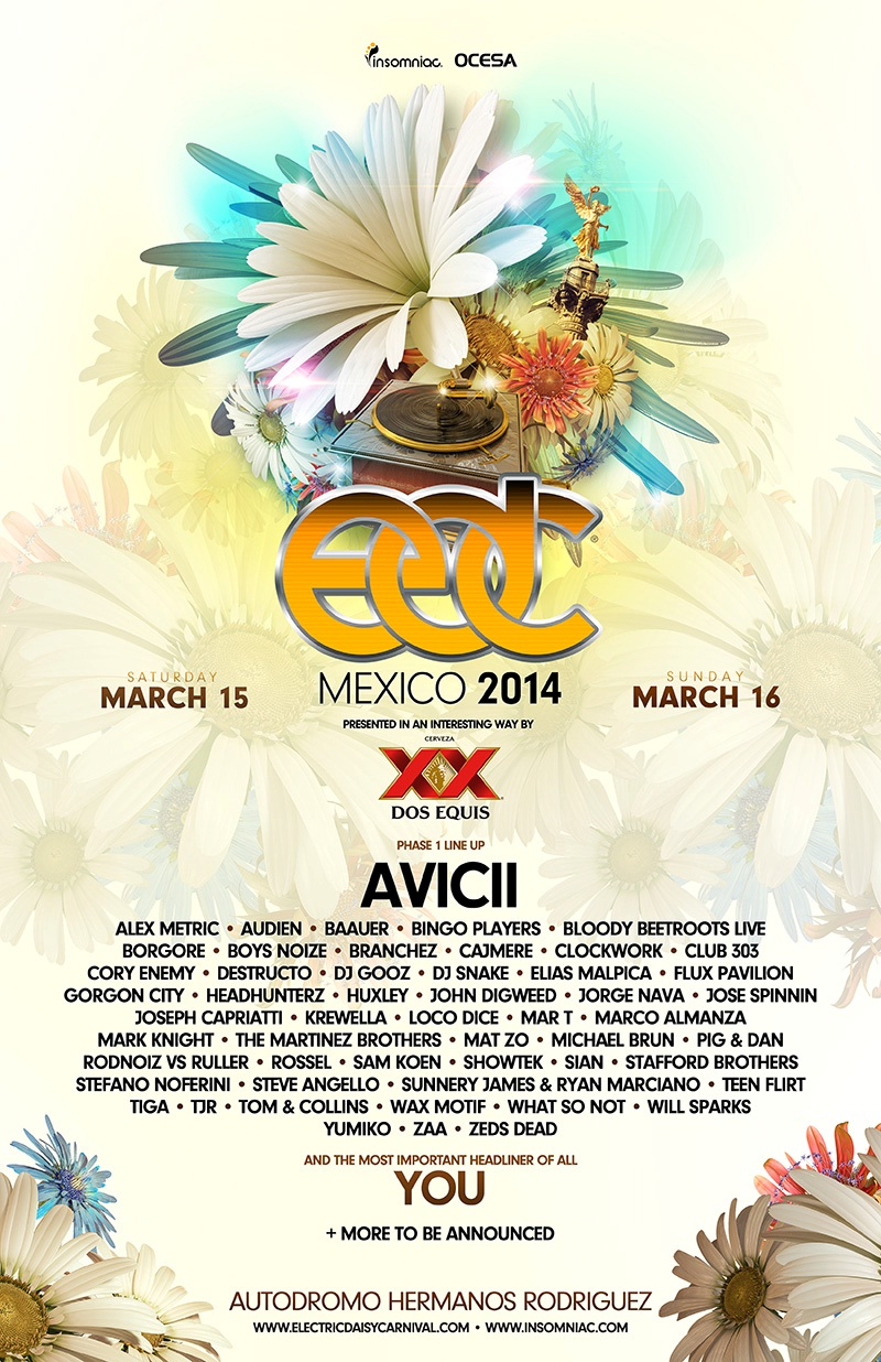 Electric Daisy Carnival Mexico - Lineup