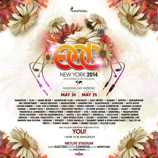 EDC New York - Lineup