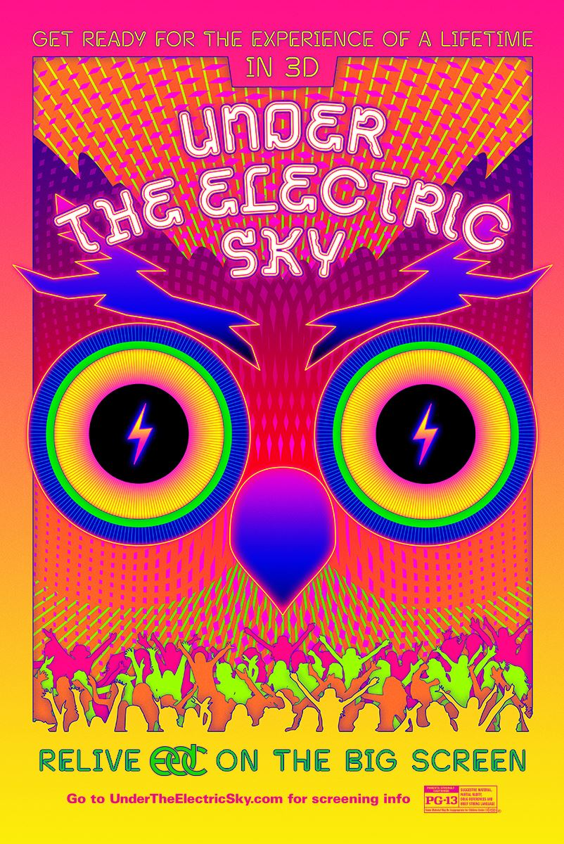 """Press Release: 3D Movie """"Under The Electric Sky"""" Coming to Theaters via EDM Fans First"""
