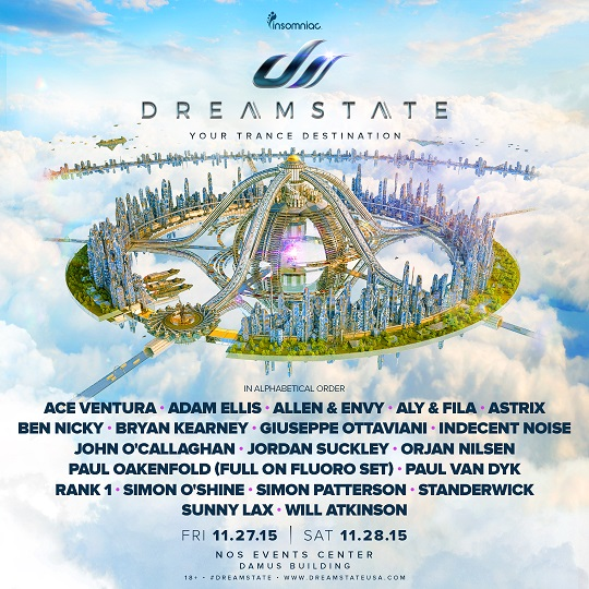 Dreamstate Lineup Artwork