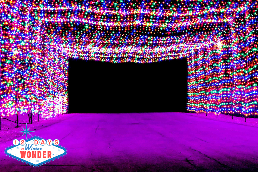 Glittering lights light up las vegas motor speedway for Motor speedway las vegas christmas lights