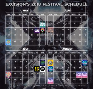 Excision's Festival Schedule 2018