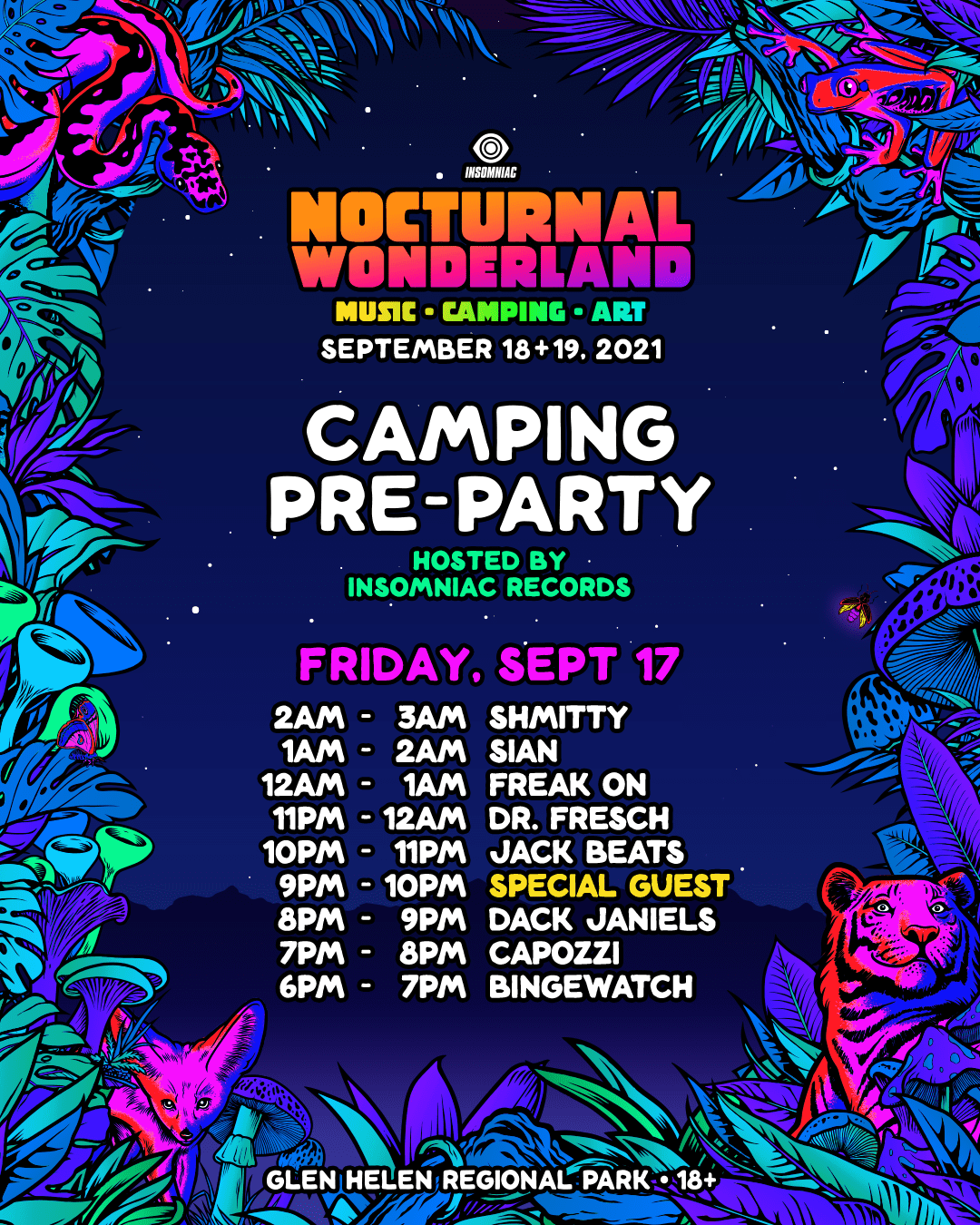 Nocturnal Wonderland Camping Pre-Party