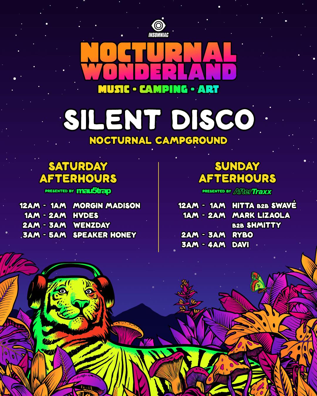 Nocturnal Wonderland Silent Disco 2021